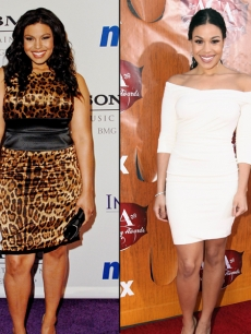 Jordin Sparks in 2008 (left) and in 2011 (right)