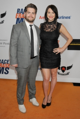 Jack Osbourne and Lisa Stelly arrive at the 19th Annual Race To Erase MS Event at the Hyatt Regency Century Plaza, Century City, Calif., on May 18, 2012