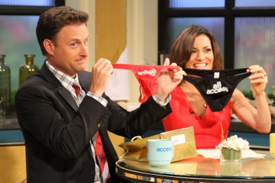 Surprise Chris Harrison! Kit Hoover gives our guest co-host a special Access gift on the show on June 25, 2012