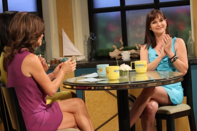 'Army Wives' star Kellie Martin stops by for a quick chat on Access Hollywood Live on June 27, 2012