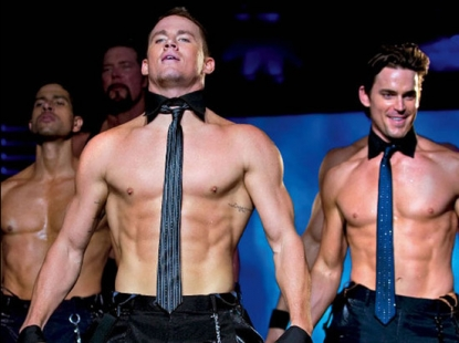 Channing Tatum and Matt Bomer in a scene from 'Magic Mike'