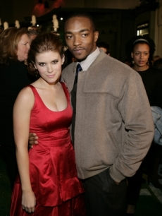 Kate Mara & Anthony Mackie hug for the Hollywood press