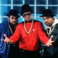 Joseph 'Run' Simmons, Darryl 'D.M.C.' McDaniels and DJ Jason 'Jam Master Jay' Mizell of Run DMC in New York on June 9, 1988