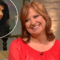 Caroline Manzo stops by Access Hollywood Live on July 10, 2012 / inset: Teresa Giudice 