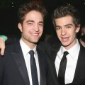 Robert Pattinson and Andrew Gardield attend HBO's 68th Annual Golden Globe Awards Official After Party held at The Beverly Hilton hotel in Beverly Hills, Calif. on January 16, 2011