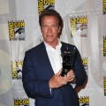 Arnold Schwarzenegger arrives at 'The Expendables 2 Real American Heroes' Panel during Comic-Con 2012 on July 12, 2012
