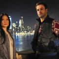 Jonny Lee Miller (right) stars as Sherlock Holmes and Lucy Liu (left) stars as Watson on CBS' 'Elementary'