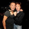Bruce Springsteen and Sir Paul McCartney backstage at The 54th Annual GRAMMY Awards at Staples Center in Los Angeles on February 12, 2012