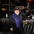 George R.R. Martin attends the 'Game Of Thrones' HBO celebration party inside the WIRED Cafe at Palm Terrace At The Omni Hotel during Comic-Con International 2012 on July 13, 2012