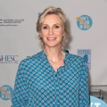 Jane Lynch attends a news conference introducing a website as part of the &#8216;Don&#8217;t Major In Debt&#8217; public service announcement campaign at 451 West Street in New York on July 17, 2012