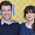 Max Greenfield and Zooey Deschanel arrive to The Academy of Television Arts & Sciences' screening of Fox's 'New Girl' in North Hollywood, Calif. on May 7, 2012