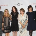 Hugh Bonneville, Joanne Froggatt, Michelle Dockery, Shirley MacLaine, Elizabeth McGovern and Brendan Coyle attend the Masterpiece Classic &#8216;Downtown Abbey, Season 3&#8217; panel during day 1 of the PBS portion of the 2012 Summer TCA Tour held at the Beverly Hilton Hotel on July 23, 2012