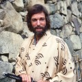 Richard Chamberlain, US actor, wearing a kimono and holding a samurai sword in a publicity portrait issued for the US television series, 'Shogun', Japan, 1980. The mini-series, adapted from the novel by James Clavell, starred Chamberlain as 'Pilot-Major John Blackthorne'