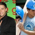 Dean Geyer at a 'Glee' event in Park City, Utah (left) and Jacob Artist in 'Blue Lagoon: The Awakening' on Lifetime (right)
