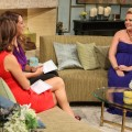 Melissa Joan Hart dishes details on her pregnancy to Kit Hoover and guest co-host Joely Fisher on the set of Access Hollywood Live on July 25, 2012