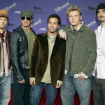 The Backstreet Boys attend the 2003 Billboard Music Awards at the MGM Grand Garden Arena in Las Vegas on December 10, 2003