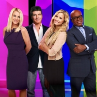 'The X Factor' - Britney Spears, Simon Cowell, Demi Lovato and L.A. Reid