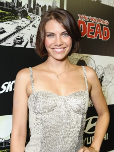 Lauren Cohan attends 'The Walking Dead' 100th Issue Black-Carpet event powered by Hyundai and Future US at PETCO Park, San Diego, on July 13, 2012