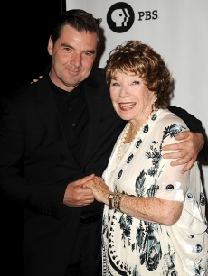 Brendan Coyle and Shirley MacLaine attend the 'Downton Abbey' photo call at the Beverly Hilton Hotel on July 21, 2012