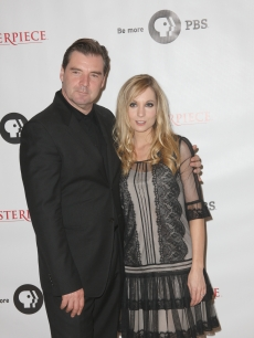 Brendan Coyle and Joanne Froggatt attend the Masterpiece Classic 'Downtown Abbey, Season 3' panel during day 1 of the PBS portion of the 2012 Summer TCA Tour held at the Beverly Hilton Hotel on July 23, 2012