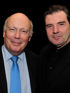 'Downton Abbey' creator Julian Fellowes and star Brendan Coyle attend the PBS portion of the the TCA summer tour 2012 at the Beverly Hilton Hotel, July 21, 2012
