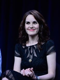 Michelle Dockery attend the 'Downton Abbey' panel at the PBS portion of the the TCA summer tour 2012 at the Beverly Hilton Hotel, July 21, 2012