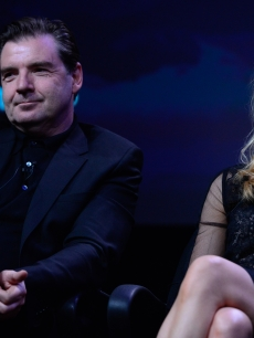 Brendan Coyle and Joanne Froggat the 'Downton Abbey' panel at the PBS portion of the the TCA summer tour 2012 at the Beverly Hilton Hotel, July 21, 2012
