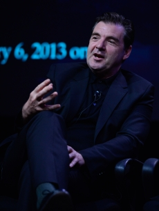 Brendan Coyle speaks on the 'Downton Abbey' panel during the PBS portion of the Television Critics Association summer tour, Beverly Hilton Hotel, July 21, 2012