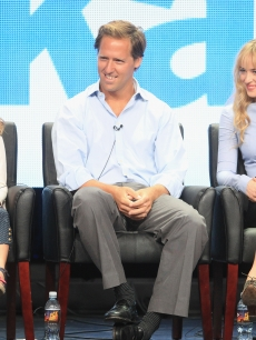 Maggie Elizabeth Jones, Nat Faxon and Dakota Johnson speak onstage at the 'Ben and Kate' panel during day 3 of the FOX portion of the 2012 Summer TCA Tour held at the Beverly Hilton Hotel on July 23, 2012
