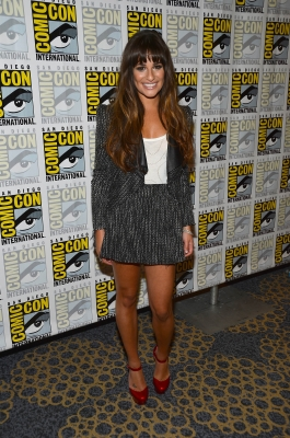 1.	Lea Michele attends the &#8216;GLEE&#8217; Press Room during Comic-Con International 2012 held at the Hilton San Diego Bayfront Hotel on July 14, 2012