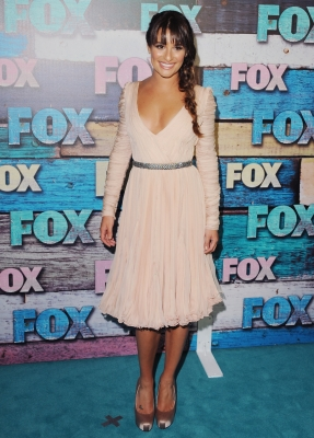 Lea Michele steps out at the FOX All-Star Party at the Soho House in West Hollywood, Calif. on July 23, 2012