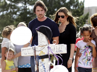 Christian Bale and Sandra Blazic reflect on the victims of last week&#8217;s mass shooting during the midnight screening of &#8216;The Dark Knight Rises&#8217; in Aurora, Colorado on July 24, 2012