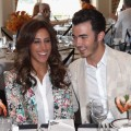 Danielle Jonas and Kevin Jonas attend 'Lunch with E!' during day 5 of the NBCUniversal portion of the 2012 Summer TCA Tour at The Beverly Hilton Hotel, Beverly Hills, on July 25, 2012