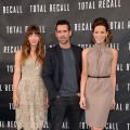Jessica Biel, Colin Farrell and Kate Beckinsale attend the photo call for Columbia Pictures' 'Total Recall' held at the Four Seasons Hotel in Los Angeles on July 28, 2012