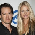 Mark-Paul Gosselaar and Catriona McGinn attend the Liberty Bell Ball at The Playboy Mansion on July 7, 2011 in Beverly Hills