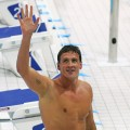 Ryan Lochte of the United States after winning Gold in the Final of the Men's 400m Individual Medley on Day 1 of the London 2012 Olympic Games at the Aquatics Centre on July 28, 2012