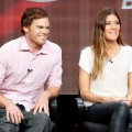 Michael C. Hall and Jennifer Carpenter speak at the 'Dexter' discussion panel during the Showtime portion of the 2012 Summer Television Critics Association tour at the Beverly Hilton Hotel on July 30, 2012
