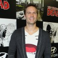 Scott Porter attends 'The Walking Dead' 100th Issue Black-Carpet event powered by Hyundai and Future US at PETCO Park, San Diego, on July 13, 2012