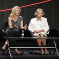 Director Rory Kennedy and Ethel Kennedy speak onstage during the HBO Summer 2012 TCA Panel at The Beverly Hilton Hotel on August 1, 2012