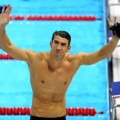 Michael Phelps is seen on Day 7 of the London 2012 Olympic Games at the Aquatics Centre in London on August 3, 2012