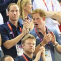  Prince William, Duke of Cambridge and Prince Harry during Day 6 of the London 2012 Olympic Games at Velodrome on August 2, 2012
