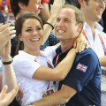 Catherine, Duchess of Cambridge and Prince William, seen during Day 6 of the London 2012 Olympic Games at Velodrome in London n August 2, 2012