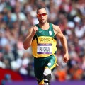 Double amputee Oscar Pistorius of South Africa competes in the Men's 400m Round 1 Heats at the London 2012 Olympic Games on August 4, 2012