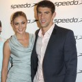 Megan Rossee and Michael Phelps attend the Speedo Athlete Celebration at Kensington Roof Gardens in London on August 6, 2012