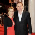 Gillian Anderson and Mark Griffiths attend the UK Premiere of 'Mission: Impossible Ghost Protocol' at BFI IMAX in London on December 13, 2011
