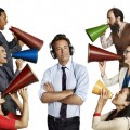 Tyler James Williams as Owen, John Cho as Steven, Laura Benanti as Lauren, (center) Matthew Perry as Ryan, (right, top down) Brett Gelman as Mr. K, Julie White as Anne, Suzy Nakamura as Yolanda on NBC's 'Go On'