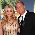 Jessica Simpson and Joe Simpson attend the grand opening of the Casino Club in White Sulphur Springs, West Virginia on July 2, 2010