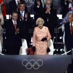 Britain&#8217;s Queen Elizabeth II arrives during the opening ceremony of the London 2012 Olympic Games at the Olympic stadium in London on July 27, 2012 