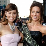 Jessica Biel and Kate Beckinsale at the &#8216;Total Recall&#8217; premiere at Grauman&#8217;s Chinese Theatre on August 1, 2012 in Hollywood