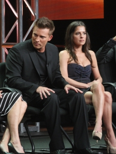 Nancy Lee Grahn, actor Steve Burton, actress Kelly Monaco and actor Michael Easton speak onstage at the 'General Hospital' panel during day 6 of the Disney ABCTelevision Group portion of the 2012 Summer TCA Tour at The Beverly Hilton Hotel on July 26, 2012